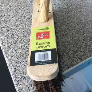 Hard Sweeping Brush Broom with Handle just £1.99 Poundstretchers