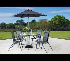 Milan 4 Seater Patio Set inc. Parasol - £89.99 (£119.99) @ Argos