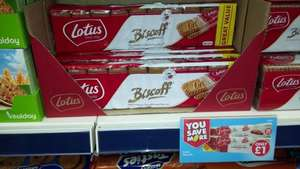 Lotus Biscoff Caramelised Biscuits 2 packs x 20  = 40 biscuits (312g) £1 @ Poundworld. SWEET!