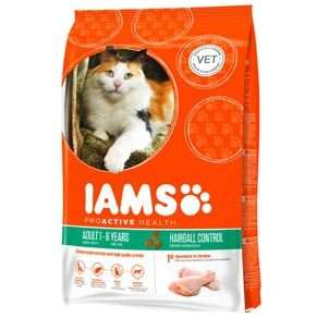 Iams Adult Dry Cat Food Hairball Chicken 2.55kg - National Deal £10 @ Pets at home free c&c