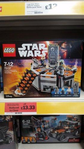 Lego Star Wars Carbon Freezing Chamber 75137  £13.33 @ Sainsburys