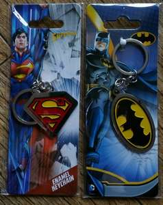 Superman Or Batman Enamel Keychains, In Store £1 @ Poundworld