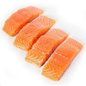 500g bag of frozen salmon fillets: £0.99 at farmfoods