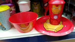 Marvel / Starwars plastic dining ware £1 Poundworld