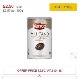 Morrisons - Kenco Millicano Instant Coffee 100g £2.50