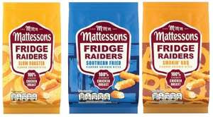 Mattessons Fridge Raiders Chicken/BBQ/Southern Fried Chicken Bites (91% Chicken Breast) (60g) Half Price Was £1.29 Now 64p @ Tesco