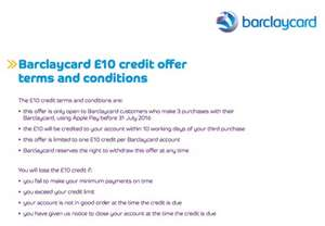 Free £10 with Barclaycard with 3 Apple Pay Purchases