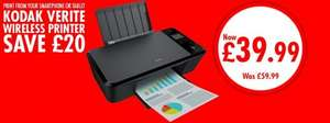 Kodak Verite 55 Wireless 3 in 1 Inkjet printer with XL cartridges £34.99 ryman