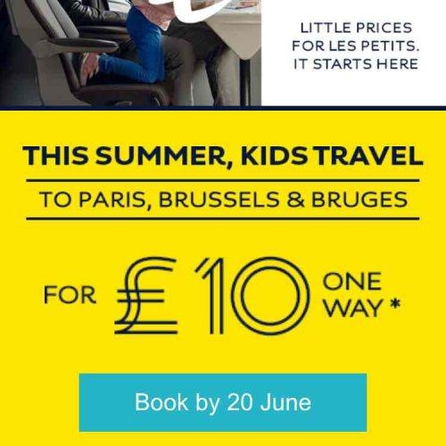 EUROSTAR £10 one way for children