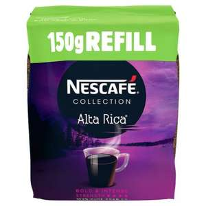 Nescafe Alta Rica (Refill pouch) 150g Buy Two Get One Free. - 3 for £9 @ Tesco