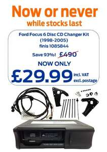 Ford Focus MK1 Clarion 6 Disc Changer £29.99 plus postage @ fordpartsuk
