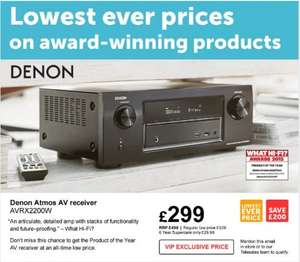 Denon AVR-X2200W 7.2 Channel AV Receiver only £299 @ Richer Sounds Instore or Online (VIP Price mention email 08-06-16 to 17-06-16)