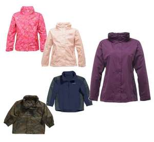 Kids and Womens Regatta Waterproof jackets £4.99 each - £8.94 Delivered @ Winfields Outdoor