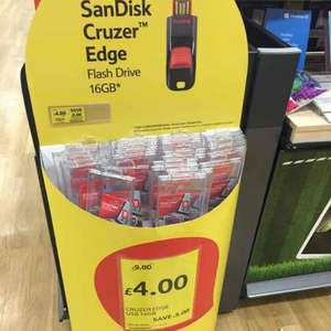 SanDisk Cruzer Edge 16GB £4 @ Tesco in-Store and online