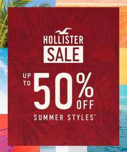 up to 50% Hollister sale