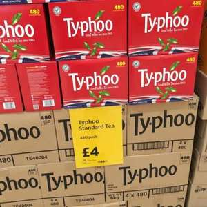 Tea people, 480 Typhoo tea bags £4 at Morrisons instore