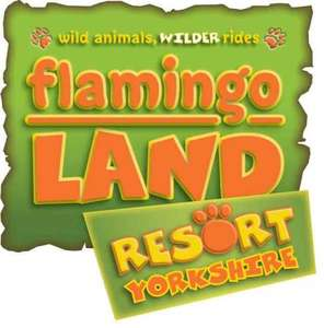 Flamingo land entry ticket £25 when bought from Whitby visitor centre.