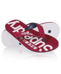 Mens Superdry Flip Flops w/ free delivery £7.99 @ Offical Superdry eBay outlet