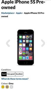 Apple iPhone 5S Pre-owned - £159 @ GiffGaff