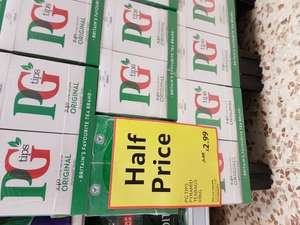 Pg Tips 240S Pyramid Teabags 696G Half Price £2.99 at tesco online or instore.