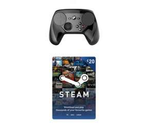 Steam Controller with £20 Steam Wallet Top Up Bundle - £47.99 (+£30 with Steam Link) - Game