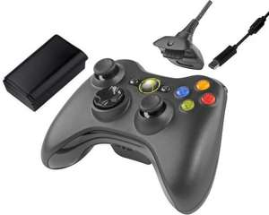 Official Xbox 360 Wireless Controller Black with Play & Charge Kit 2.4GHz £27.99 FREE P&P @Primeretailing-eBay