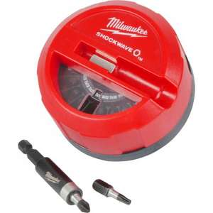 Milwaukee Shockwave 15pc Screwdriver Bit Puck Set £8.38 others from £3.25 free c&c @ Toolstation