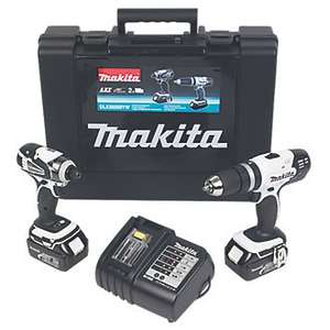 Makita DLX2020W 18v LXT Combi & Impact Twin Pack 2x3.0Ah Was £269.99 NOW £189.99 @ Screwfix