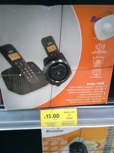 binatone solas 1520 twin dect phone £15 at Tesco Extra Slough