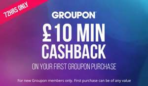 £10 Topcashback on your first purchase with Groupon - No Minimum Spend!