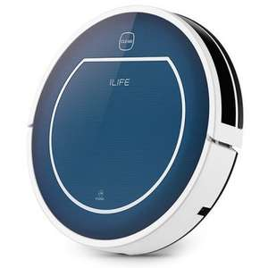 ILIFE V7 Super Mute Sweeping Robot Home Vacuum Cleaner Dust Cleaning with 2600mAh Li - battery - BLUE £104.78 @ Gearbest - FREE SHIPPING