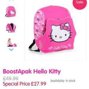 BoostApak hello kitty £26.59  with code @ Trunki