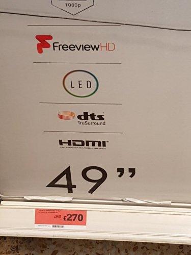 "49"" celcus smart tv for £270 sainsburys Huddersfield"