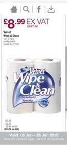 Velvet Clean & Wipe 10 x 2 Pack @ Costco for £10.78