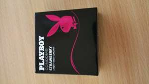 Playboy Condoms - Strawberry - x3 50p Tesco