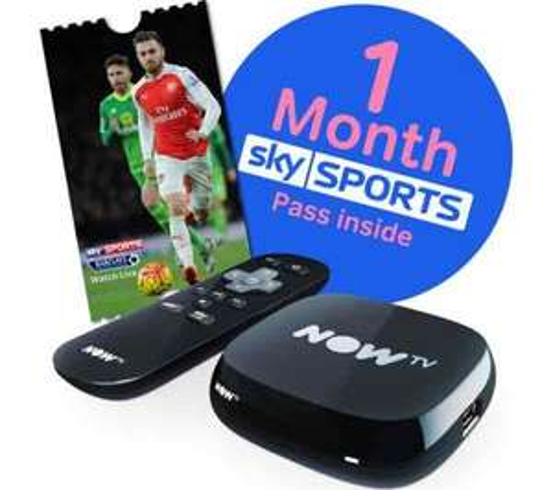 NOW TV HD Smart TV Box - 1 month Sports Bundle £22.99 @ Currys