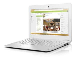 Lenovo Ideapad 100S 11.6-Inch HD Laptop (White) - (Intel Atom Z3735, 2 GB RAM, 32 GB HDD, Intel HD Graphics, Windows 10) @ £109.99 Amazon