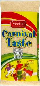 Veetee Carnival Taste Easy Cook Rice (5kg) was £6.00 now £3.00 (Rollback Deal) @ Asda