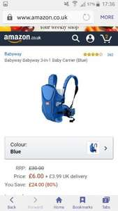 3 in 1 Babyway baby carrier £10 Amazon