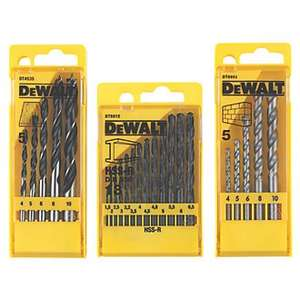 DeWalt Drill Bits, 3 Sets - 23 PCS - £9.99 @screwfix