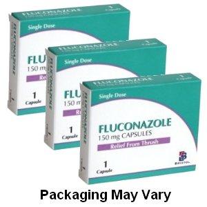 3 x Fluconazole (Generic Canesten) 150mg 1 Capsule Thrush Treatment - FREE DELIVERY - £2.89 - Pharmacyfirst
