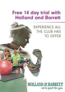14 Days Free at David Lloyd (Holland and Barrett offer)