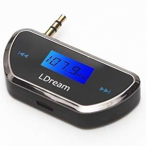 Mini FM Transmitter, LDream In-car FM Transmitter Audio Radio Adapter Amazon Prime £4.99 Non Prime £8.98 Sold by LDream-UK and Fulfilled by Amazon.