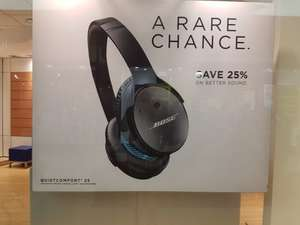 BOSE QC25 headphones. £249 down to £179 York outlet