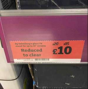 "Sainsburys black glass tv stand up to 32"" £10 @ sainsburys in Arnold Nottingham"