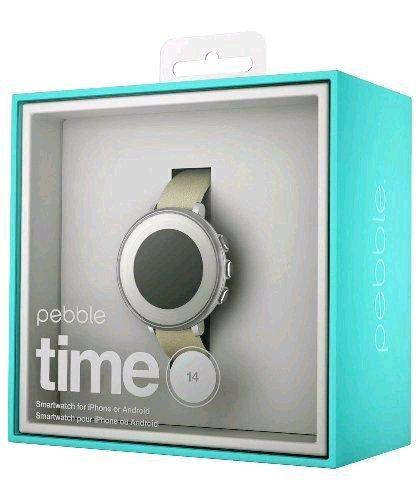 Pebble Time Round Smartwatch - Silver, Black £139.99 @ Argos