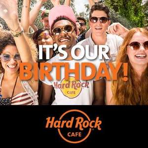 Hard Rock's Birthday Tuesday 14th June Burger for 71p / 50p