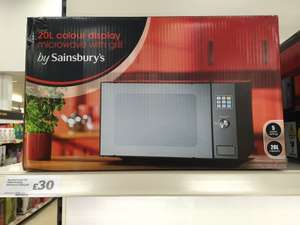 Sainsbury Microwave 20L Colour Display with Grill  £30