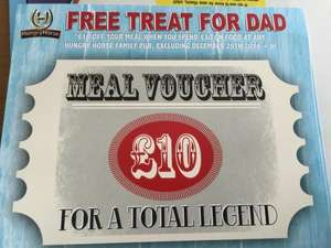 £10 off £30 voucher for Hungry Horse with selected fathers day cards @ ASDA