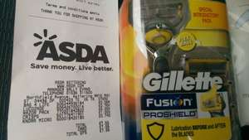 Gillette fusion pro shield razor with 4 heads £5 - Asda - Kettering
